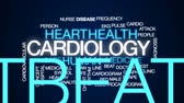 сердцебиение : Cardiology animated word cloud, text design animation.