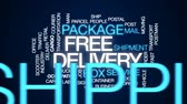 postacı : Free delivery animated word cloud, text design animation. Stok Video