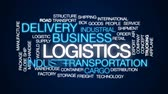 грузоперевозки : Logistics animated word cloud, text design animation.