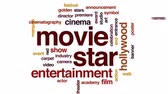 кинозвезды : Movie star animated word cloud, text design animation.