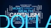 chamtivost : Capitalism animated word cloud, text design animation.