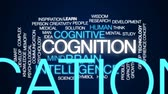 capacidade : Cognition animated word cloud, text design animation. Vídeos