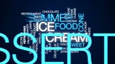 softeis : Eiscreme-animierte Wortwolke, Textdesignanimation. Stock Footage