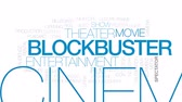 кинозвезды : Blockbuster animated word cloud, text design animation. Kinetic typography.
