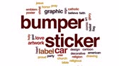 evangelho : Bumper sticker animated word cloud, text design animation.
