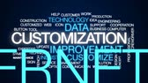 güncelleştirme : Customization animated word cloud, text design animation. Stok Video