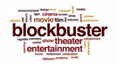 кинозвезды : Blockbuster animated word cloud, text design animation. Стоковые видеозаписи