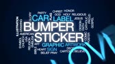 orgulho : Bumper sticker animated word cloud, text design animation.