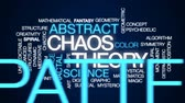 psychedelic colors : Chaos theory animated word cloud, text design animation.
