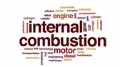 hidrogênio : Internal combustion animated word cloud, text design animation.