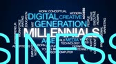 workforce : Millennials animated word cloud, text design animation. Stock Footage