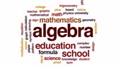 soma : Algebra animated word cloud, text design animation.