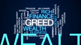 капитализм : Greed animated word cloud, text design animation.