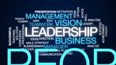option : Leadership animated word cloud, text design animation. Stock Footage