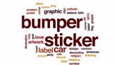 biblia : Bumper sticker animated word cloud, text design animation.
