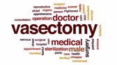 surgical scissors : Vasectomy animated word cloud, text design animation. Stock Footage