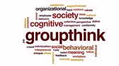 coletivo : Groupthink animated word cloud, text design animation.