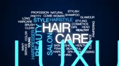 xampu : Hair care animated word cloud, text design animation.