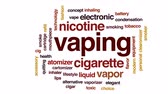 nikotin : Vaping animated word cloud, text design animation. Stock mozgókép