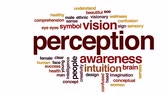 intuition : Perception animated word cloud, text design animation.