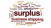 auditor : Surplus animated word cloud, text design animation.