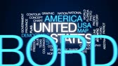 Техас : United states animated word cloud, text design animation. Стоковые видеозаписи