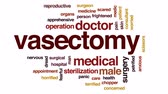 sterilization : Vasectomy animated word cloud, text design animation. Stock Footage