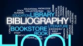 katalog : Bibliography animated word cloud, text design animation. Wideo