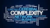 complexidade : Complexity animated word cloud, text design animation. Stock Footage