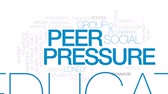 arrelia : Peer pressure animated word cloud, text design animation. Kinetic typography. Stock Footage