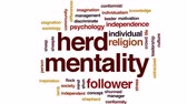 ovce : Herd mentality animated word cloud, text design animation.
