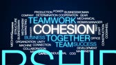cohesion : Cohesion animated word cloud, text design animation.