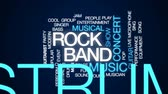 mikrofon : Rock band animated word cloud, text design animation.