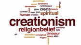 mind : Creationism animated word cloud, text design animation. Stock Footage