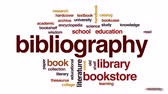 literário : Bibliography animated word cloud, text design animation. Stock Footage