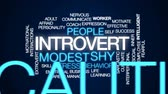 social worker : Introvert animated word cloud, text design animation.