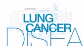 heart disease : Lung cancer animated word cloud, text design animation. Kinetic typography.