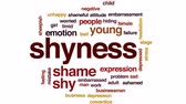 timid : Shyness animated word cloud, text design animation.