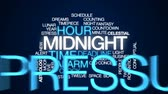contagem regressiva : Midnight animated word cloud, text design animation.
