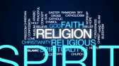 buddhismus : Religion animated word cloud, text design animation.