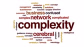 emaranhado : Complexity animated word cloud, text design animation. Stock Footage