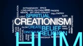 crença : Creationism animated word cloud, text design animation. Vídeos