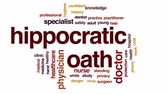 privacidade : Hippocratic oath animated word cloud, text design animation. Vídeos