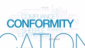 confirmar : Conformity animated word cloud, text design animation. Kinetic typography.