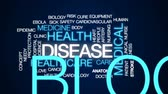 heart disease : Disease animated word cloud, text design animation. Stock Footage