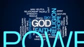 gott : Gott animierte Wortwolke, Textdesignanimation. Stock Footage