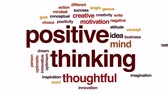 lepší : Positive thinking animated word cloud, text design animation.