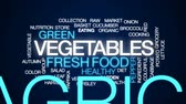 mercearia : Vegetables animated word cloud, text design animation.