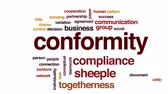 confirmar : Conformity animated word cloud, text design animation.