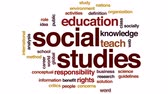 role : Social studies animated word cloud, text design animation.